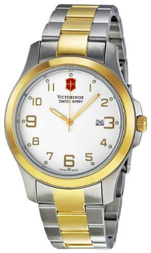 Victorinox Swiss Army Men's VICT241393.CB Class Analog Stainless Steel Watch Victorinox Swiss Army. $150.00. Quartz movement. Silver dial. Durable mineral. Case diameter: 40 mm. Water-resistant to 100 M (330 feet). Save 38%!