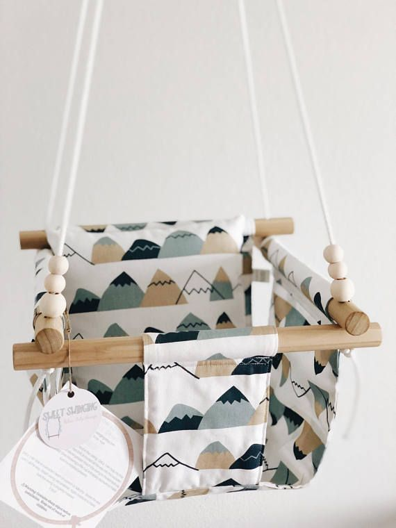 Mountain nursery decor, baby Christmas gift, baby swing, toddler swing, indoor swing, nursery decor, eco-friendly toys