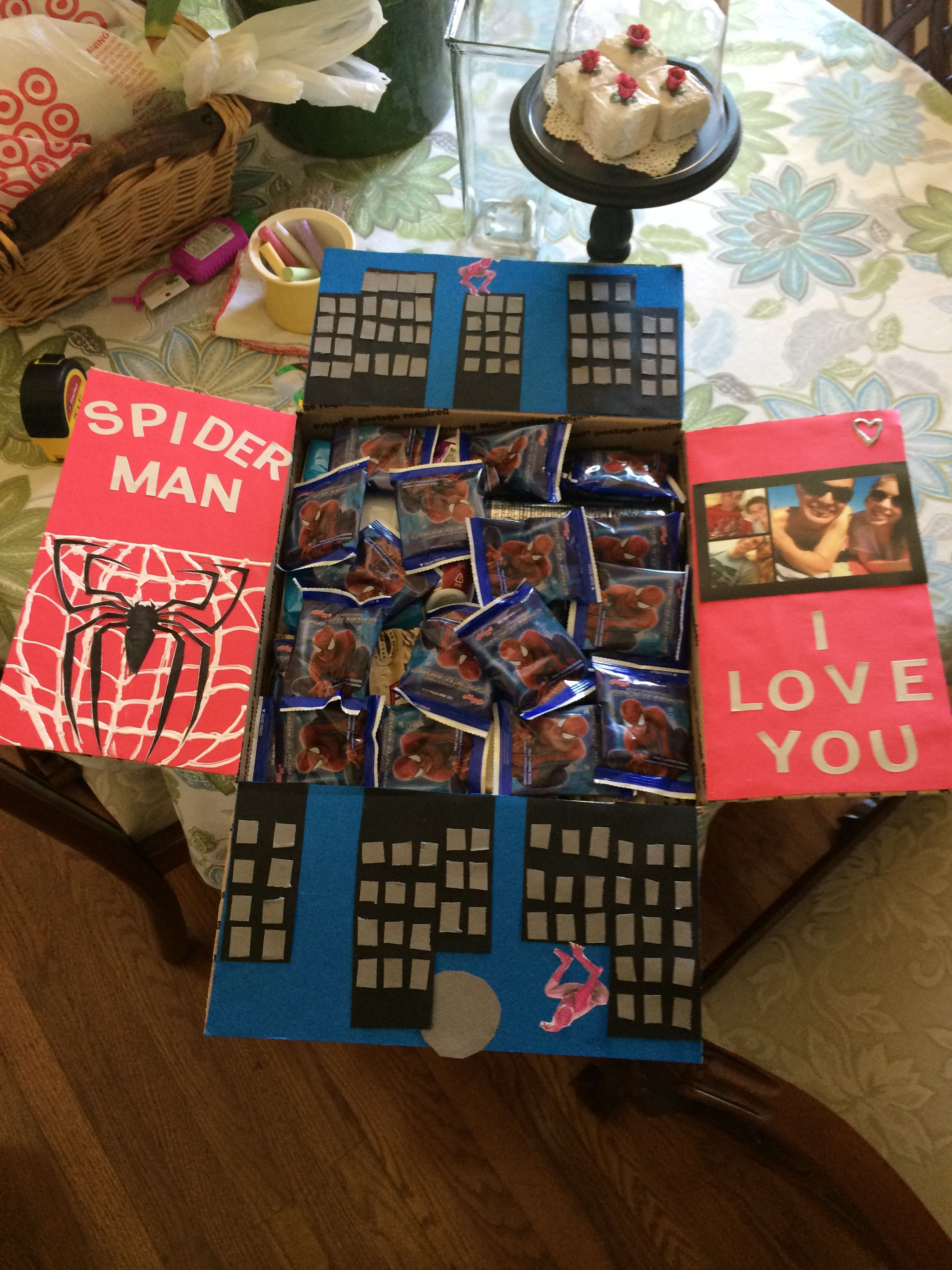 Spider Man Care Package Diy Gifts For Men Deployment Care
