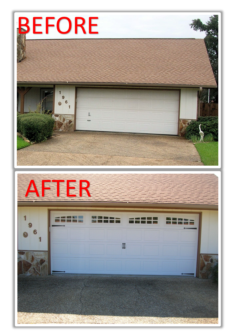 Old Garage Door Replaced With A New Raynor Buildmark Carriagehouse