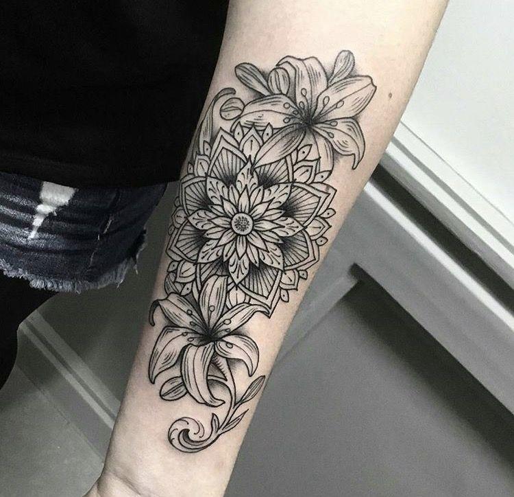 Tattoo Mandala Lily Lily Tattoo Lily Tattoo Sleeve Lily Flower Tattoos