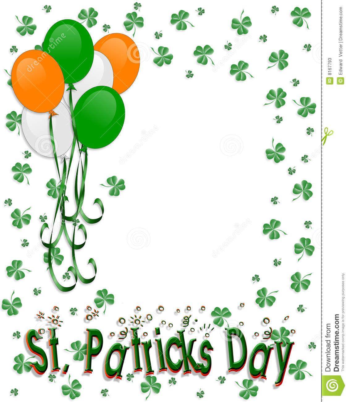 St Patrick\'s Day Border Balloons Stock Photos - Image: 8167793 ...