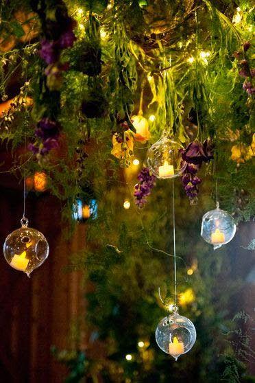 Con otro rollo boda bosque encantado velas luces for Decoracion jardin gnomos