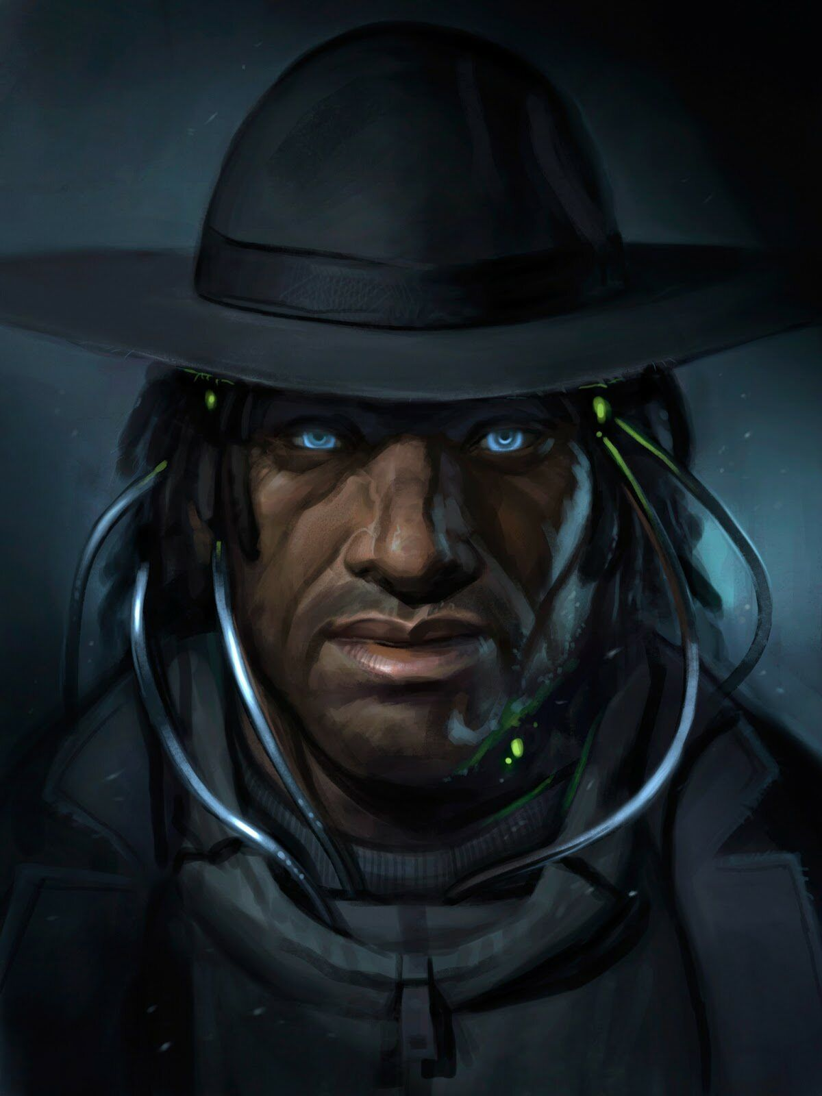Shadowrun Male Human Or Elf Black Skinned