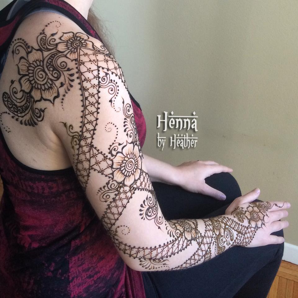 Full Arm Henna Designs: Full Arm Henna Design - Www.HennaByHeather.com