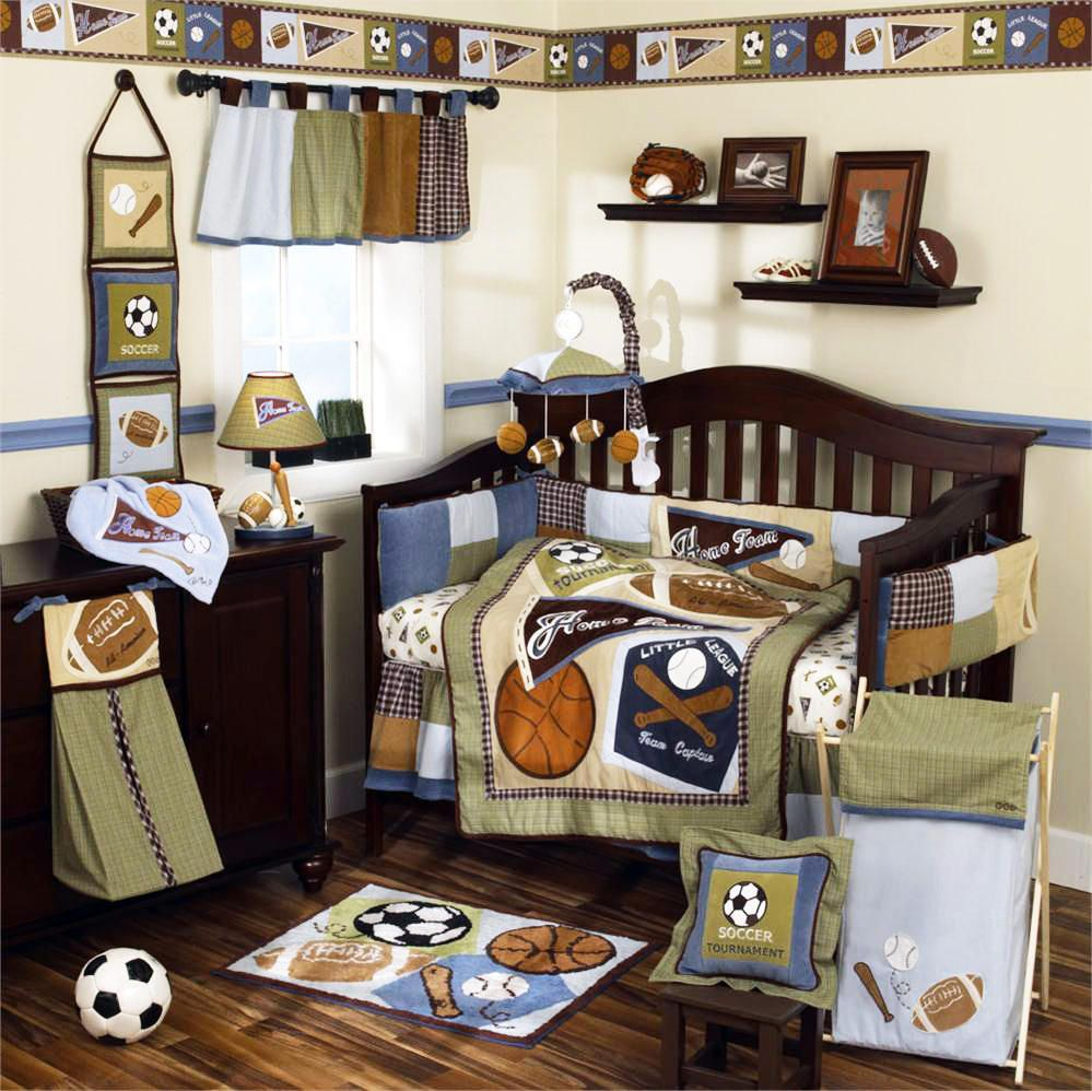 Trendy baby boys bedding set inspirations cool sports themed baby