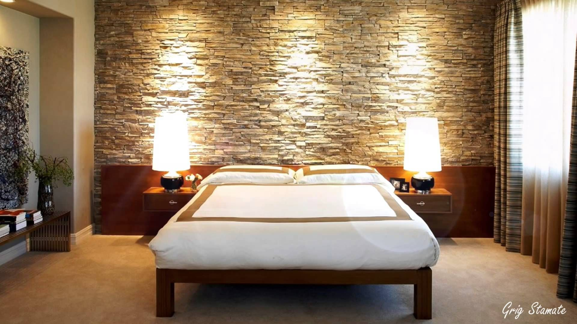 Accent Stone Wall Attention Grabbing Bedroom Walls Bedroom Accent Walls