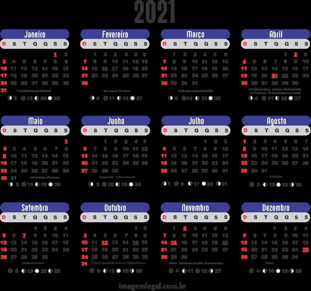 Base Calendário 2021 Feriados Nacionais | Imagem Legal em 2020
