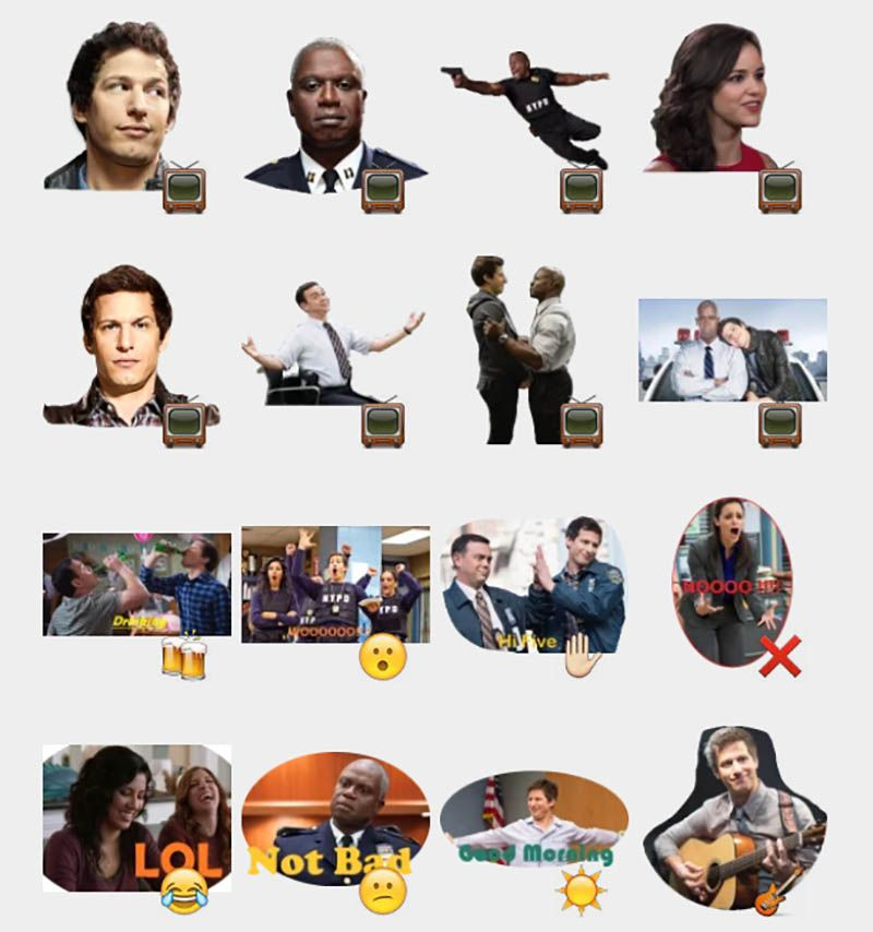 Brooklyn nine nine stickers set telegram stickers