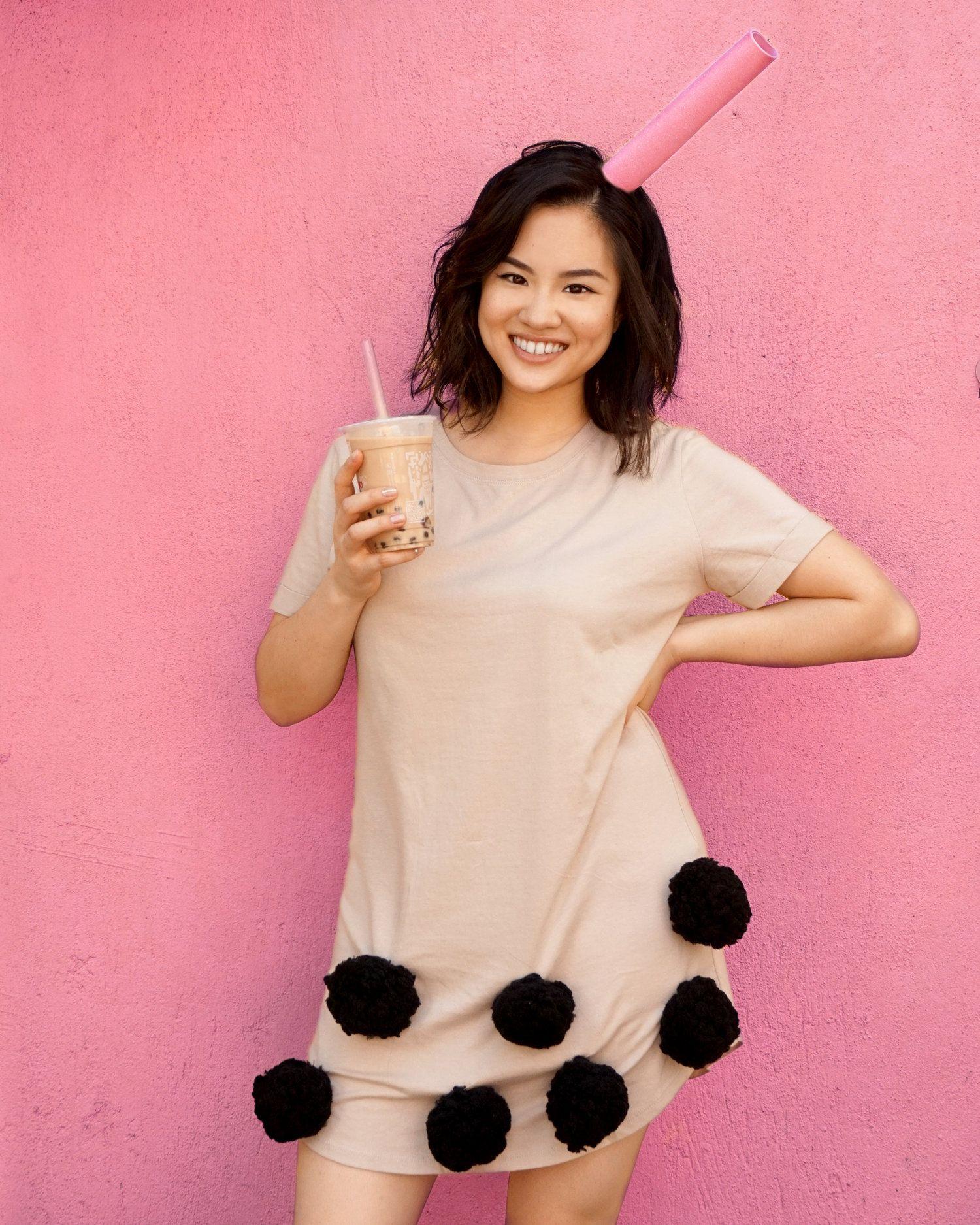 Boba Milk Tea Halloween DIY Costume Tutorial | Celebrity ...