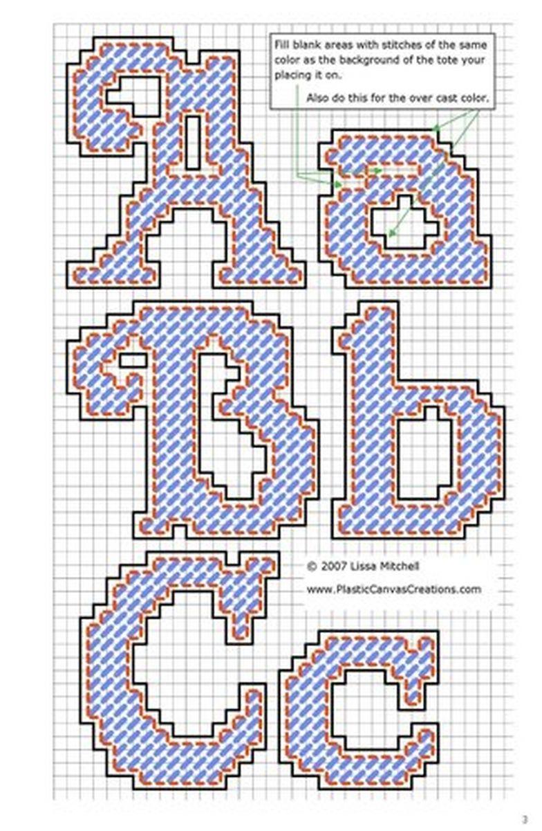 Alphabet Letters Cursive A-C | Plastic canvas Alphabet | Pinterest