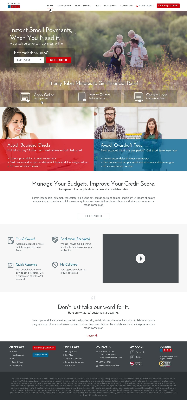Design 24 By Axilsolutions Borrow1000 Lead Generation Website Banks Website Design 24 Design