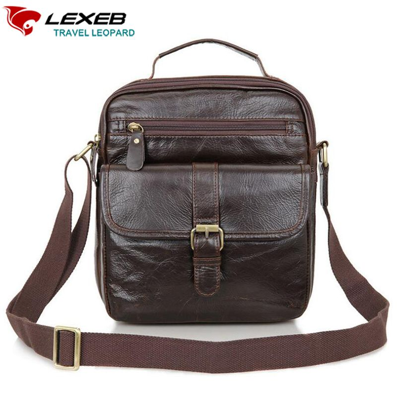 Genuine Leather Men/'s Shoulder Bags Crossbody Business Bag Cow Messenger Handbag