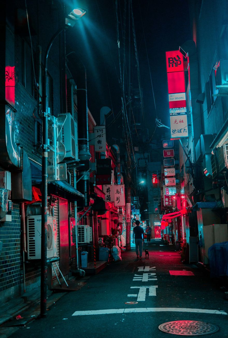 27 Photos From My Neon Hunting In Cyberpunk Cities Of Asia Cyberpunk City Neon Wallpaper City Aesthetic