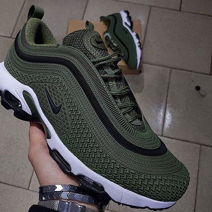 Nike Air Max 2018 Mens Running Shoes Grey Green New Style