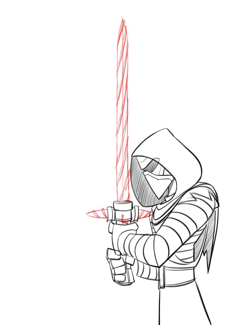 How To Draw Kylo Ren Disney Infinity Style Starwars Com Star Wars Art Drawings Star Wars Drawings Disney Infinity