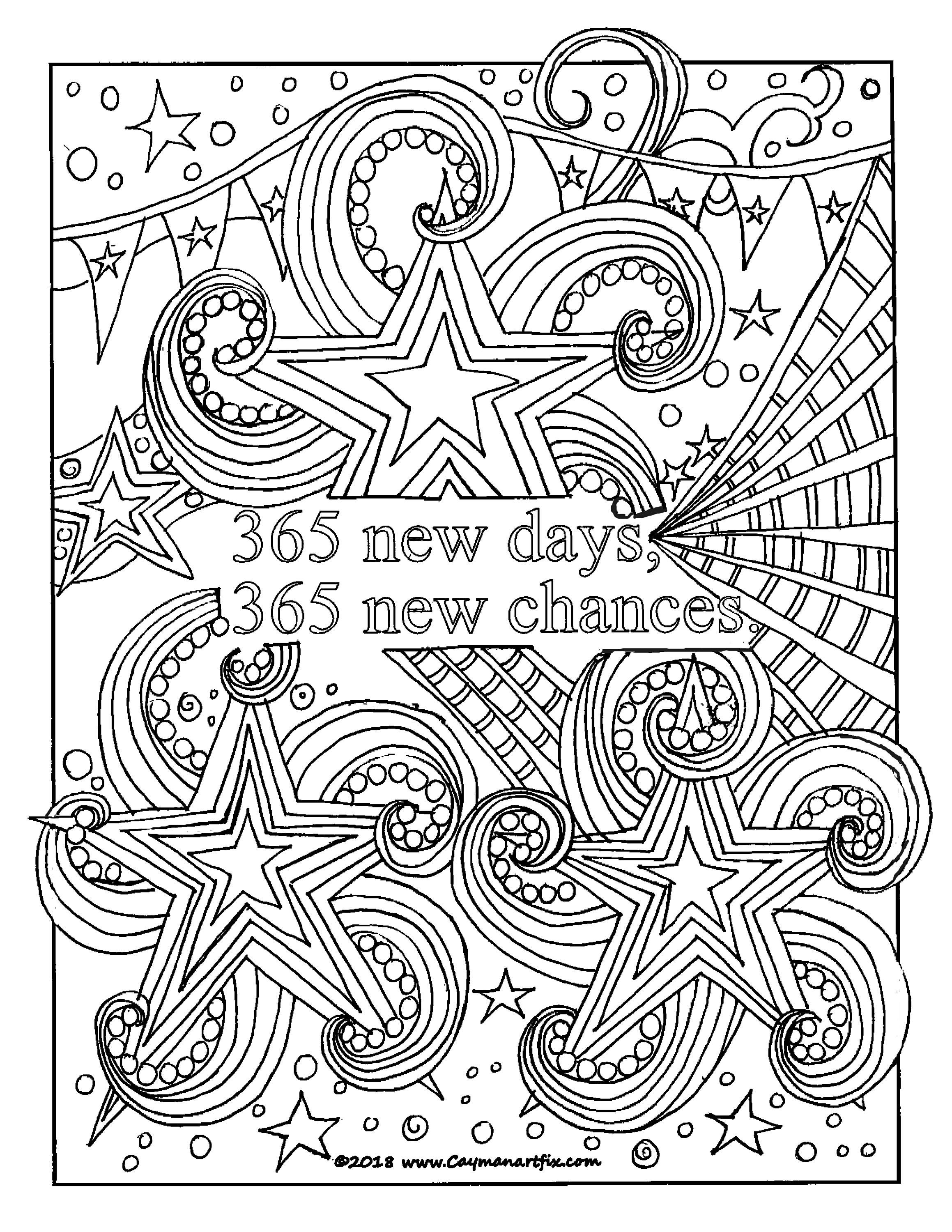 Inspirational quote coloring page, motivational adult