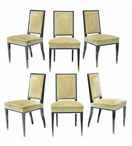 French Modern Dining Chairs, S/6