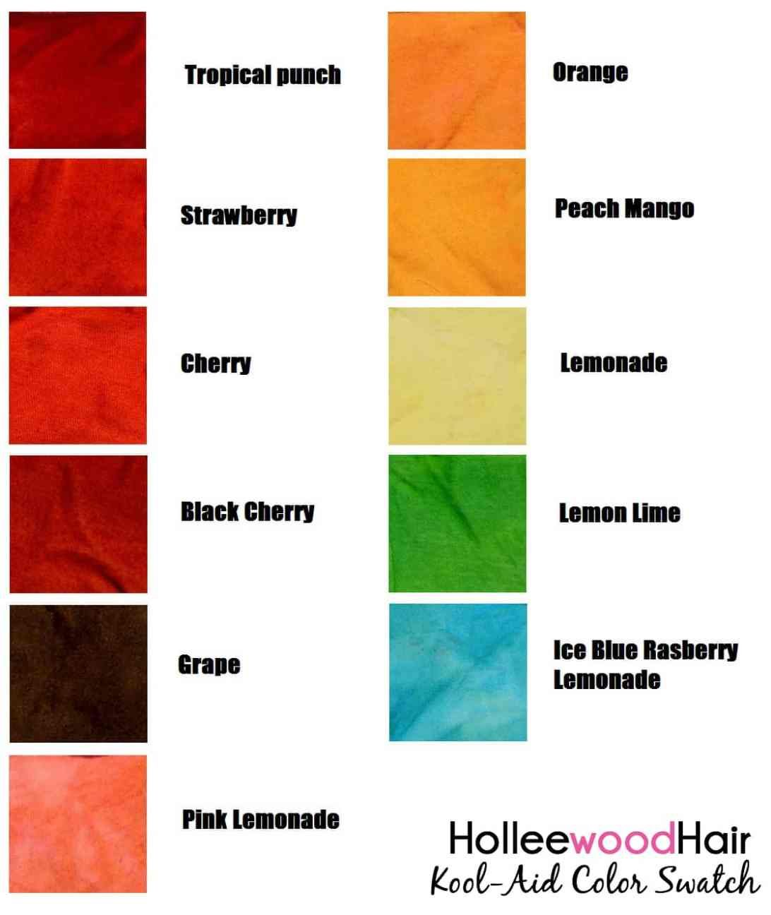 Kool Aid Hair Color 2021 Guide How To Dye Your Hair With Kool Aid Kool Aid Hair Kool Aid Hair Dye Hair Dye Color Chart Kool aid hair dye color chart