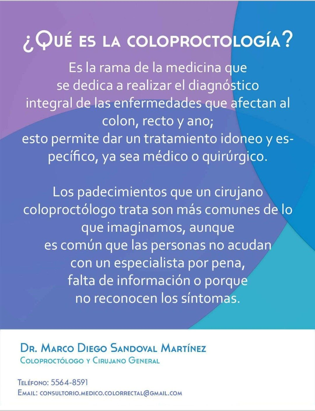 Pin by Dr. Marco Diego Sandoval Cirujano General Coloproctologo ...