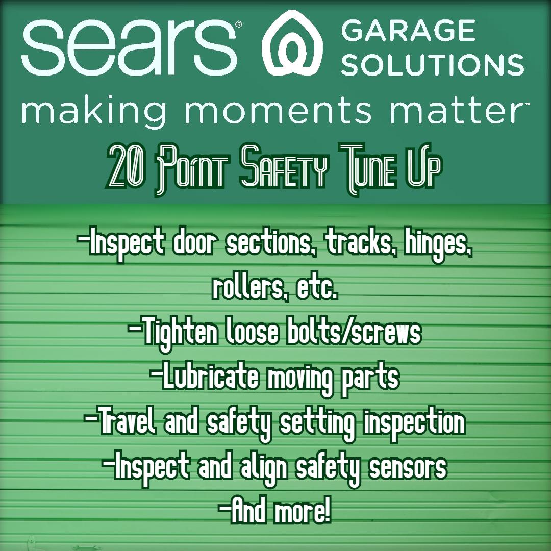 20 Point Garage Door Safety Tune Up In 2020 Garage Door Safety Garage Doors Garage Door Maintenance