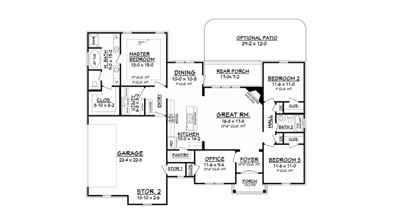 Simple Floor Plans For Houses Small One Story House Simple One Story House Plan 1 Story