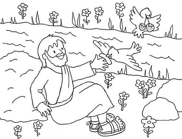 Elijah Elijah Fed By The Ravens Coloring Pages Elijah Fed By The