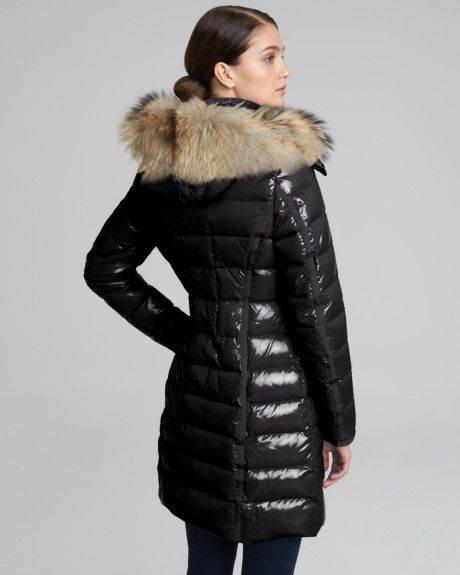 black puff coat with hood   Moncler Fur hooded Long Puffer Coat in Black.  Find this Pin and more on fashion ... def5c9692b5