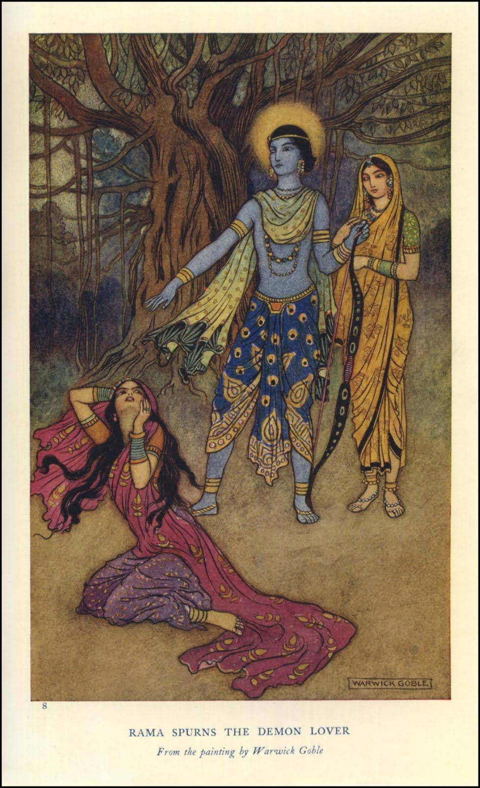 Indian Myth And Legend Illustrations By Warwick Goble Fairytale