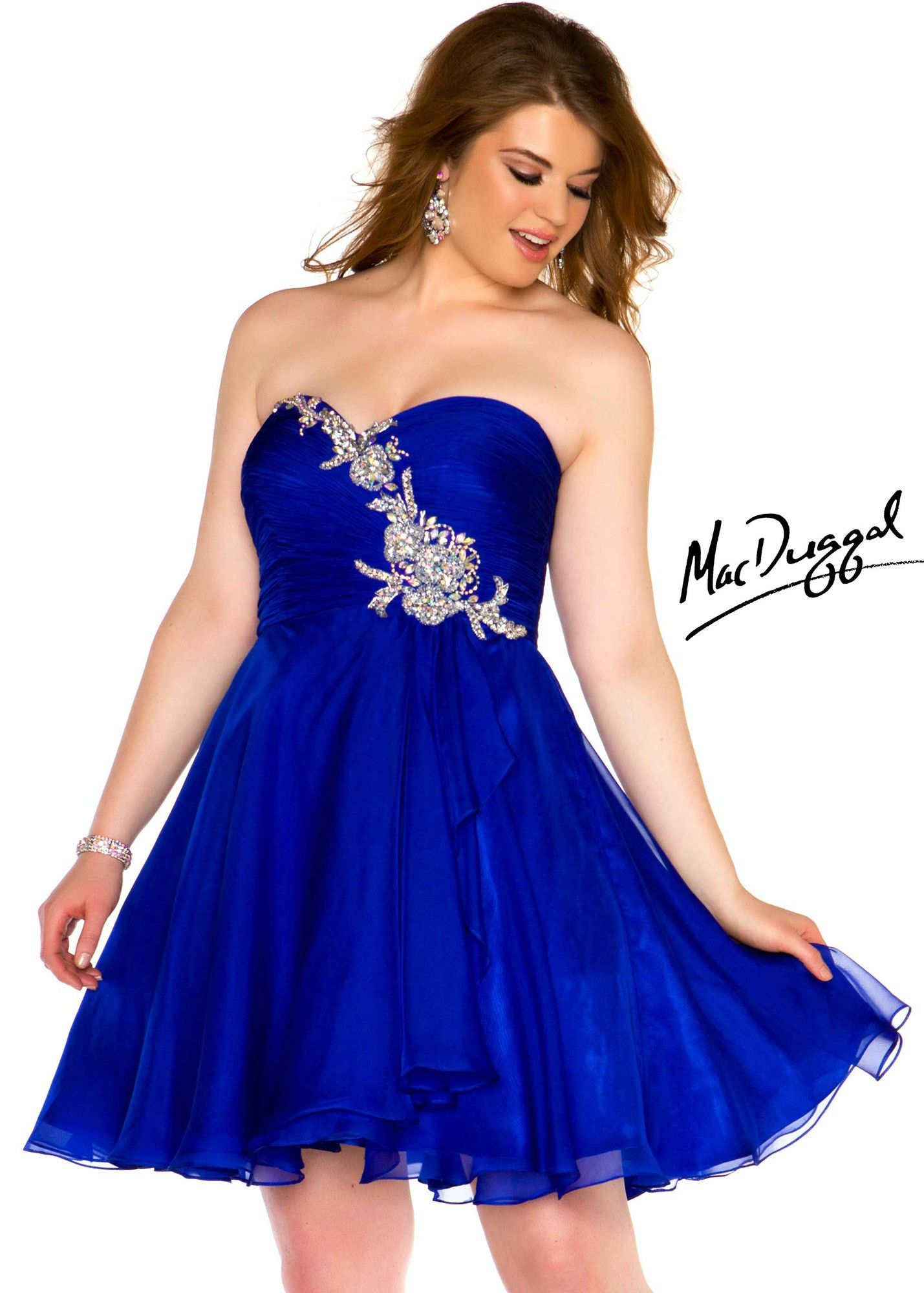 Mac Duggal 64601N Sexy Short Royal Blue Plus Size Dress | I need to ...