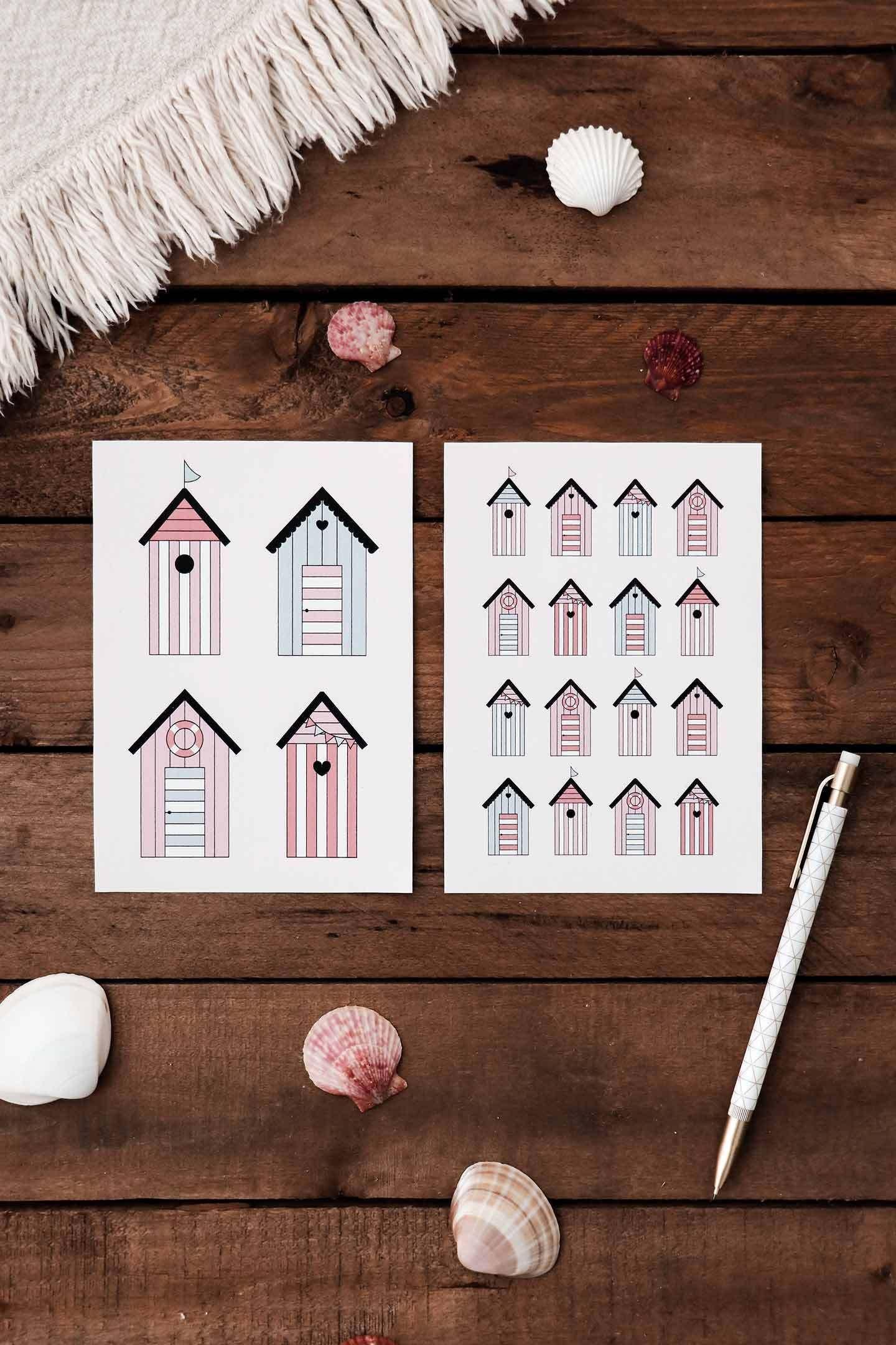 Des cartes postales à imprimer pour l'été | Postale, Cartes et Carte a imprimer
