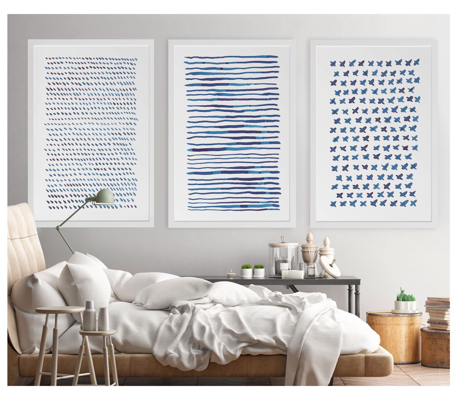 Abstract Wall Art, Large Abstract Art, 24x36 Print Set, Blue Abstract Watercolor, Abstract Art Print, Minimalist Art, Large Print,Modern Art by YellowRedAndBlue on Etsy https://www.etsy.com/listing/479507160/abstract-wall-art-large-abstract-art