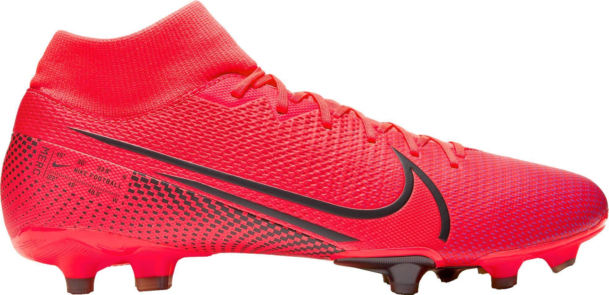 Nike Mercurial Superfly 7 Academy Fg Soccer Cleats Men S Red In 2020 Soccer Cleats Nike Mercurial Soccer Cleats Nike Soccer Boots
