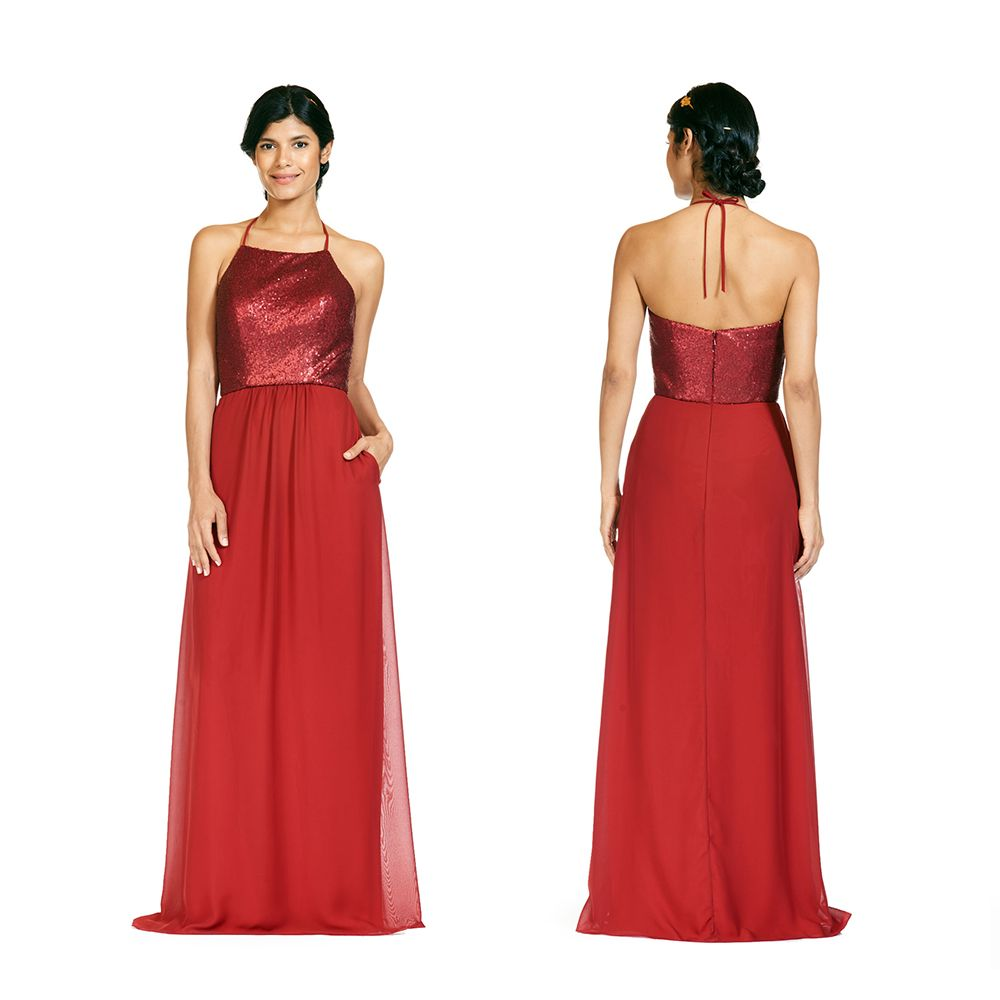 Bari jay floral sequin bridesmaids dress style bridesmaids