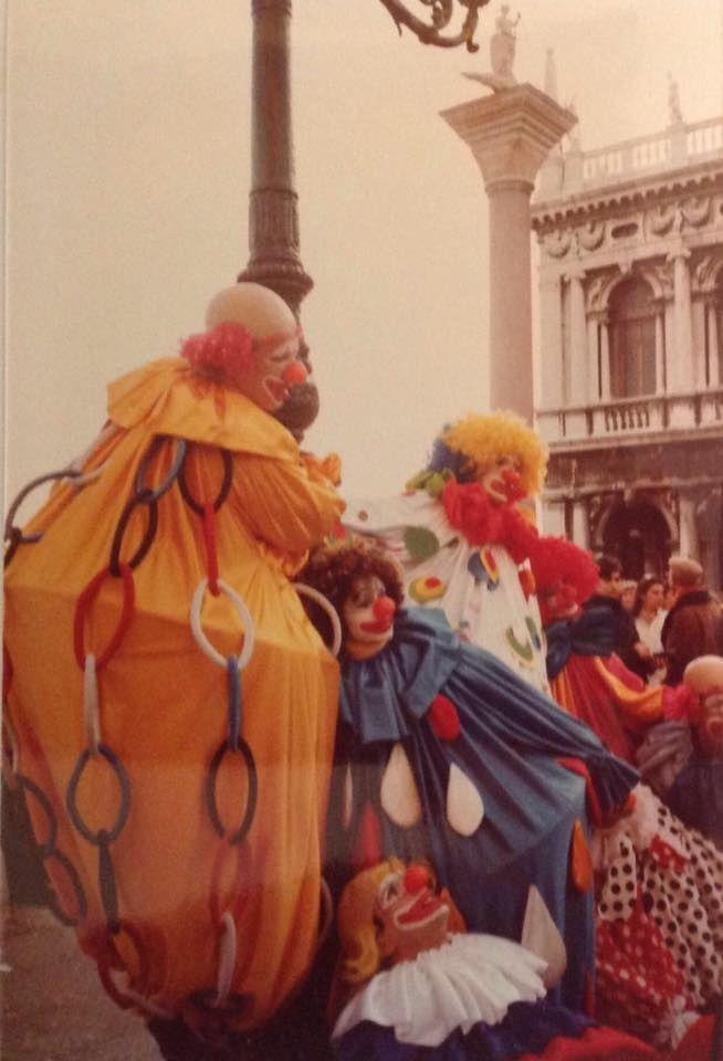 Carnevale di Venezia negli anni 80. Venezia
