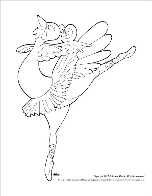 Dancing turkey coloring page for