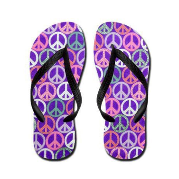 13147ded4cfa Peace Sign Flip Flops on CafePress.com