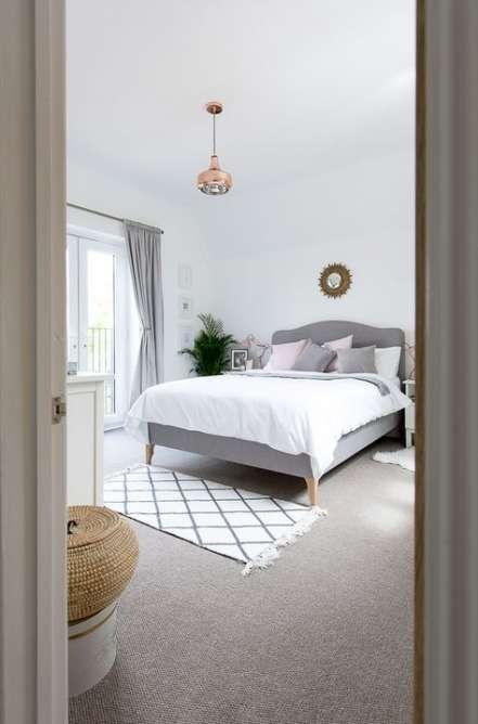 Bedroom White Walls Grey Carpet Headboards 62 Ideas Bedroom Interior Bedroom Design Bedroom