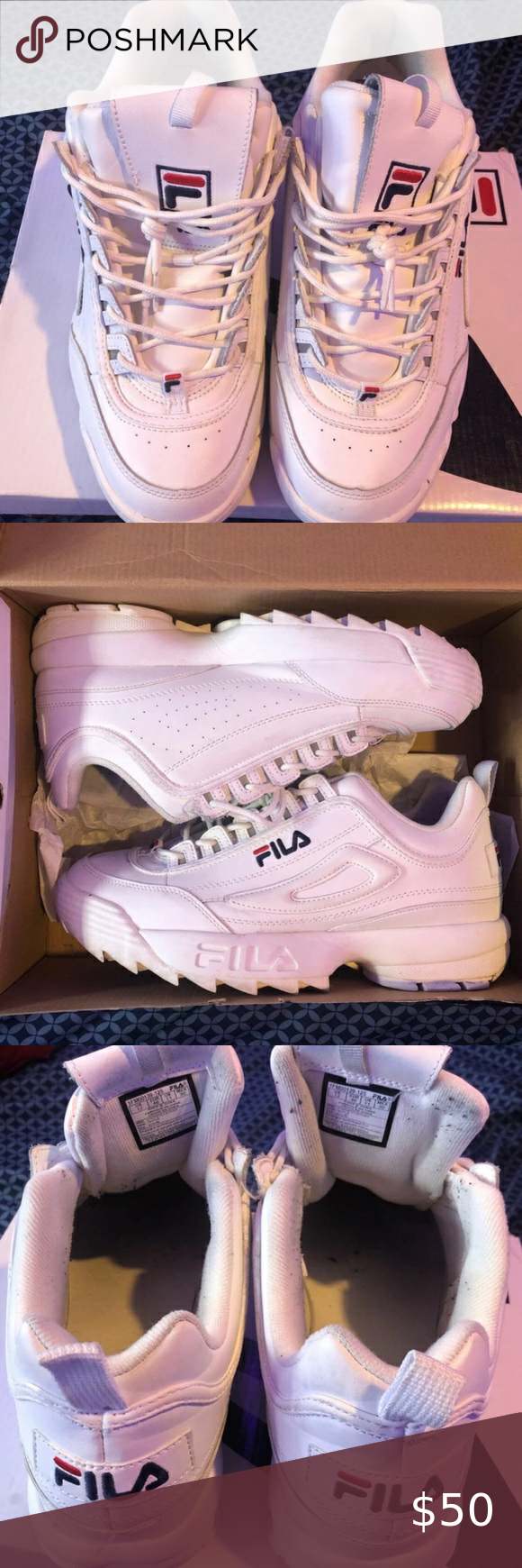 Fila Disruptors These shoes are white