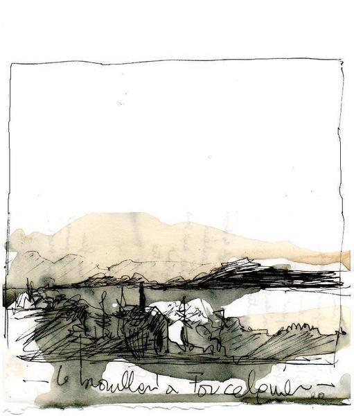"""le brouillard à Forcalquier"", Other/ Multi disciplinary, pencils,inks,computer, 2011/ by paul huet"