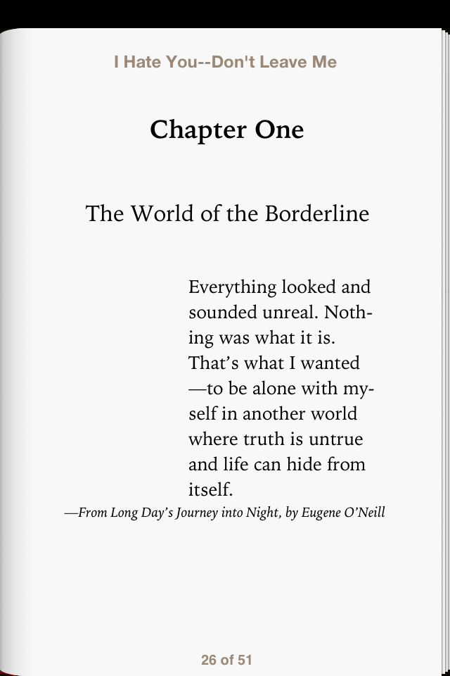 Introduction to the book on Borderline Personality Disorder