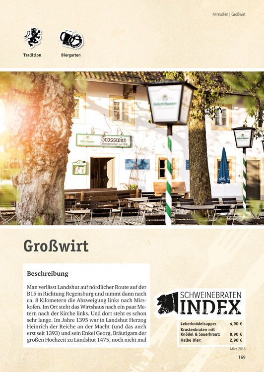 Die schönsten Wirtshäuser in Landshut und Umgebung (mit