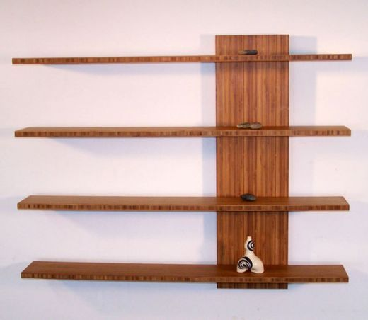 How to build homemade wooden floating shelves wooden for Wood craft shelves