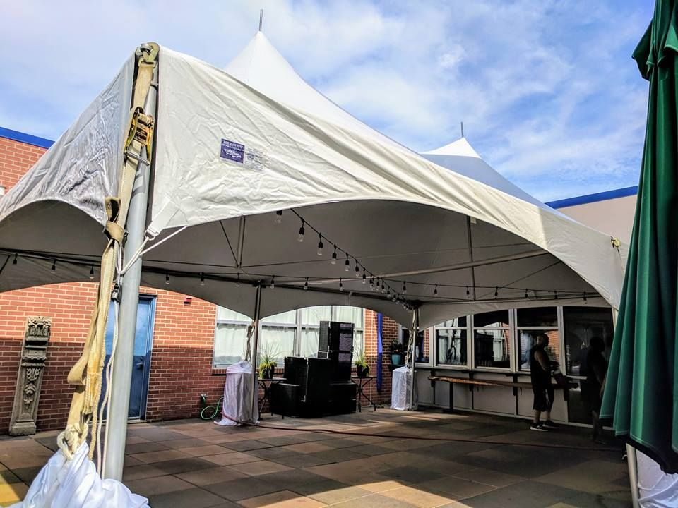 Tent And Bulb Lighting For Wedding Reception 7 28 2018