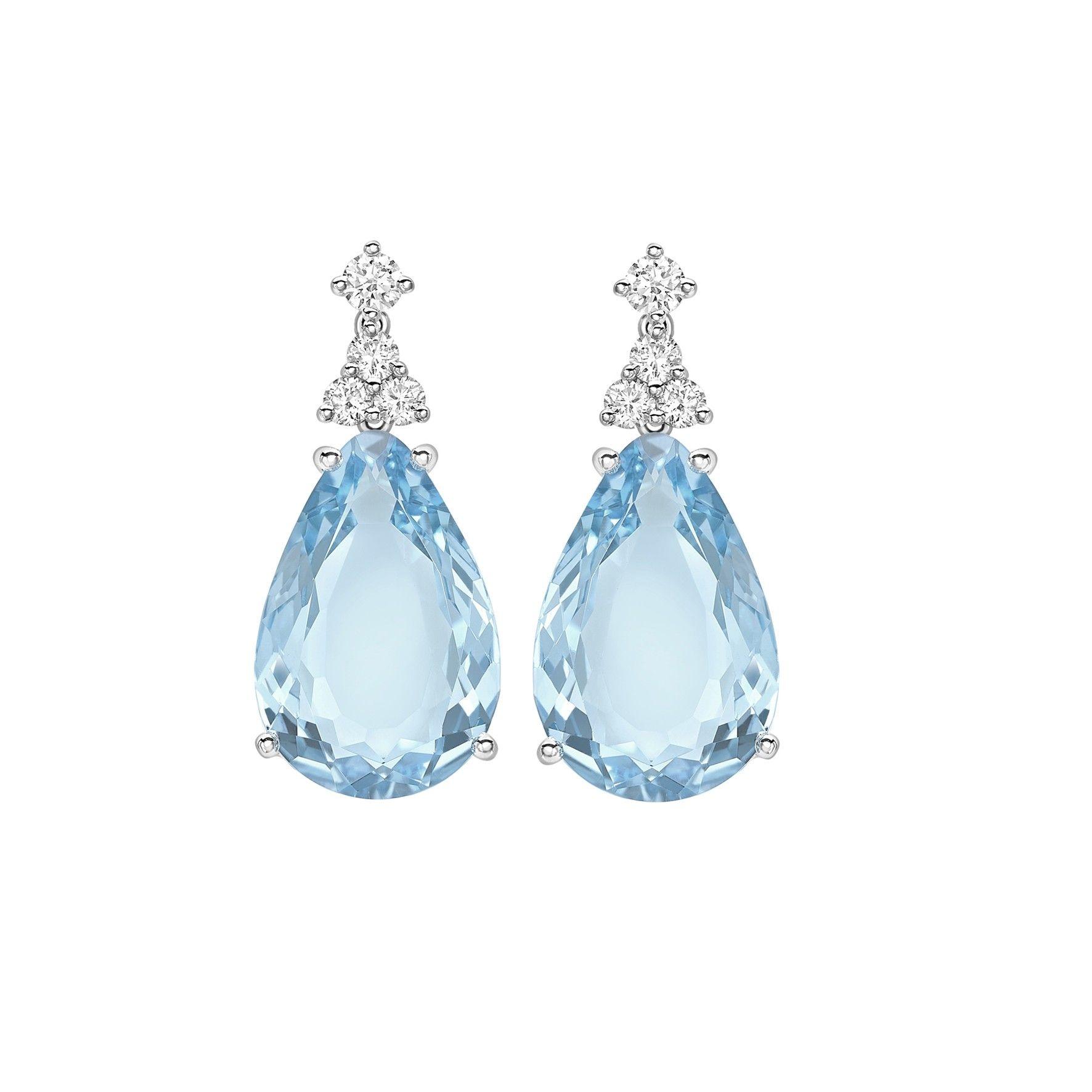 Kiki McDonough Candy Mini Blue Topaz and Diamond Earrings