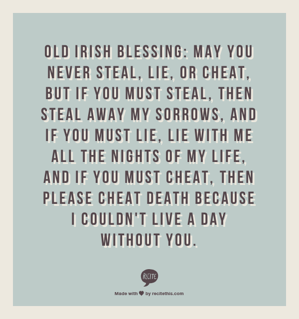 Famous Irish Quotes About Life Unique Old Irish Blessing  That's Frickin' Awesome   Pinterest