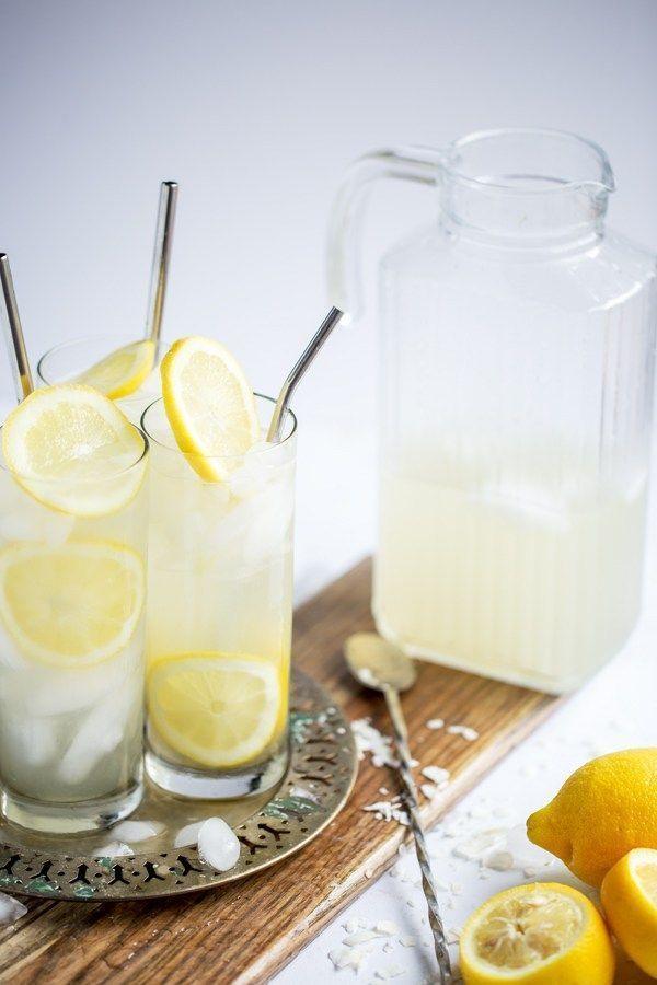 Coconut Lemon Sour Party Jug - Säfte, Getränke, Smoothies und Lattes. -...   -... - Wunderschöne