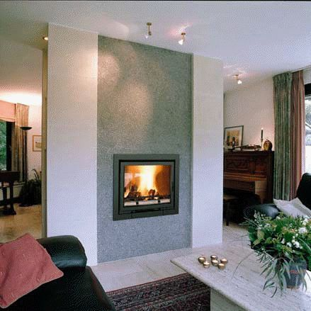 fireplace inserts wood burning with blower contemporary photos