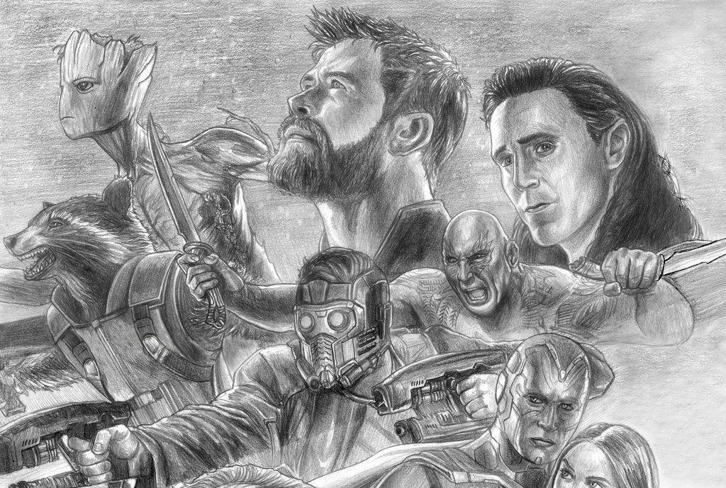 avengers infinity war guardian's sidesoulstryder210