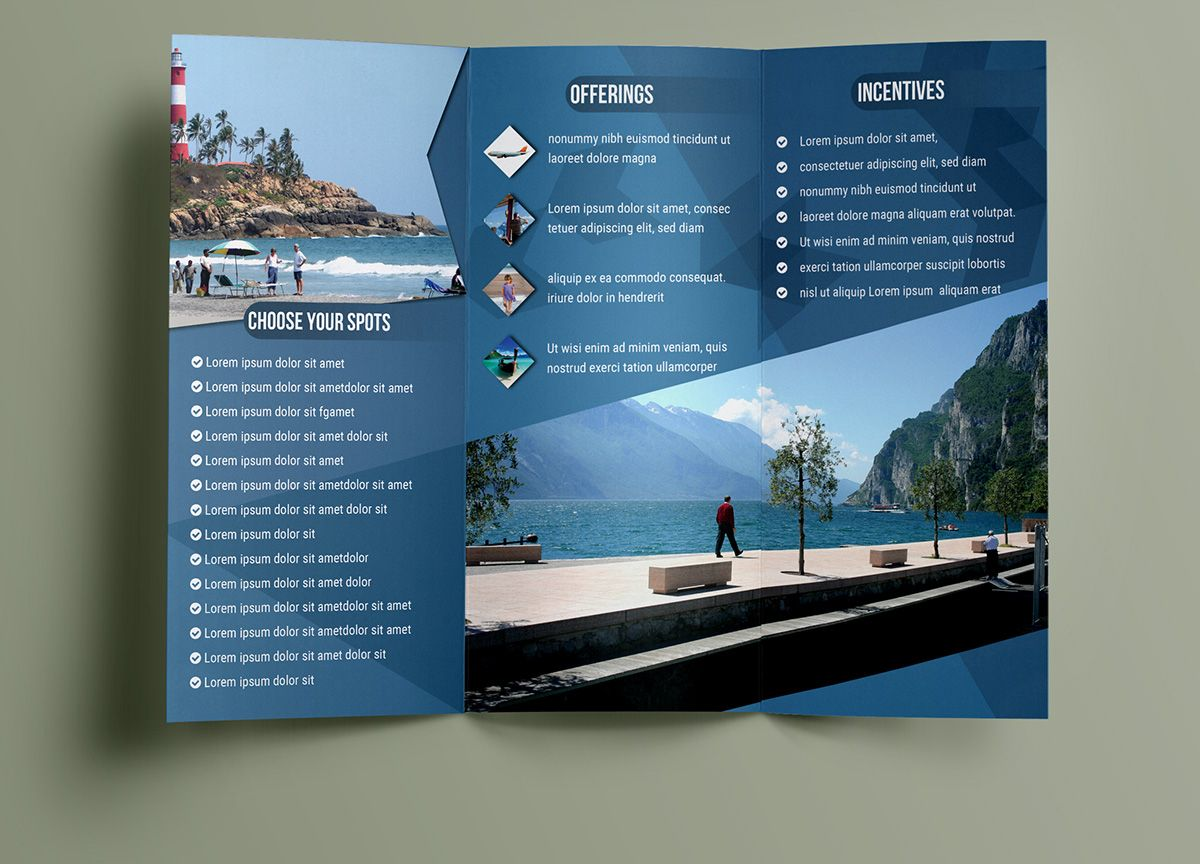 Free Travelling Trifold Brochure Template On Behance  TriFold